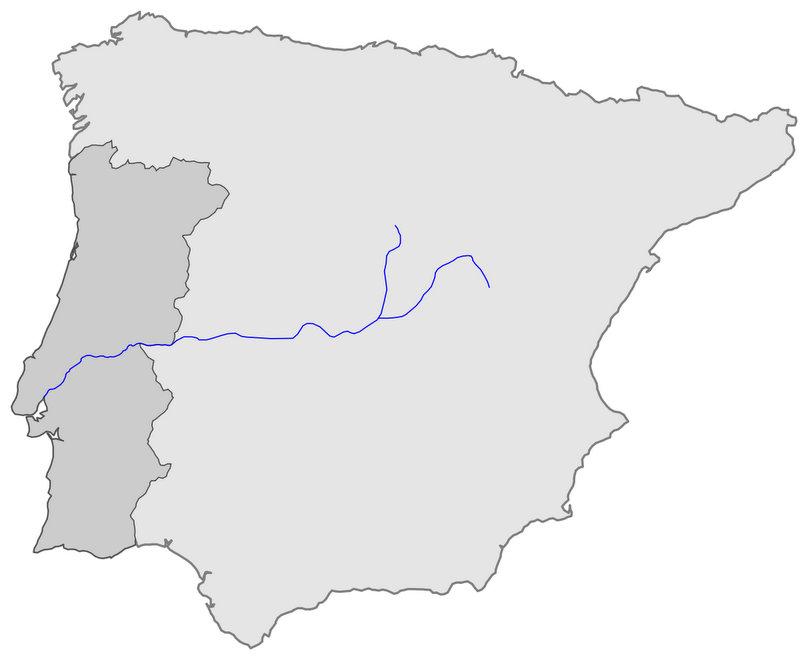 Tajo Nehri Haritası