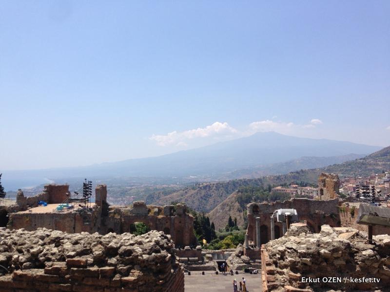 Etna Yanardağı Taormina'dan
