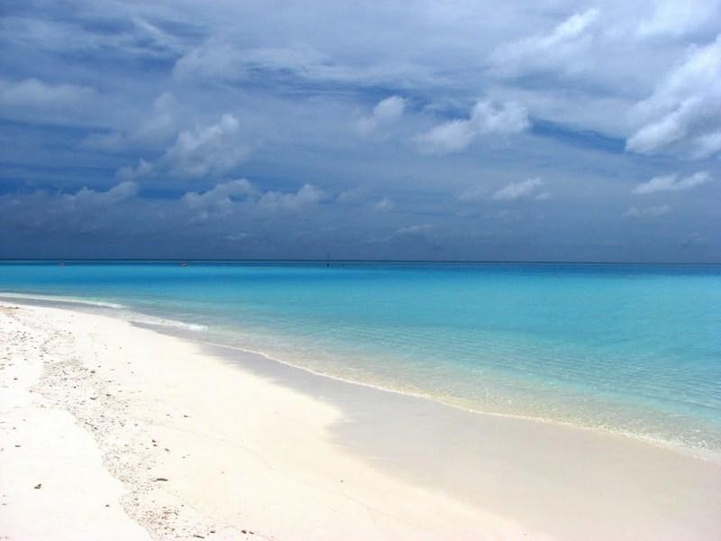 Güneş adası Maldivler Plajları