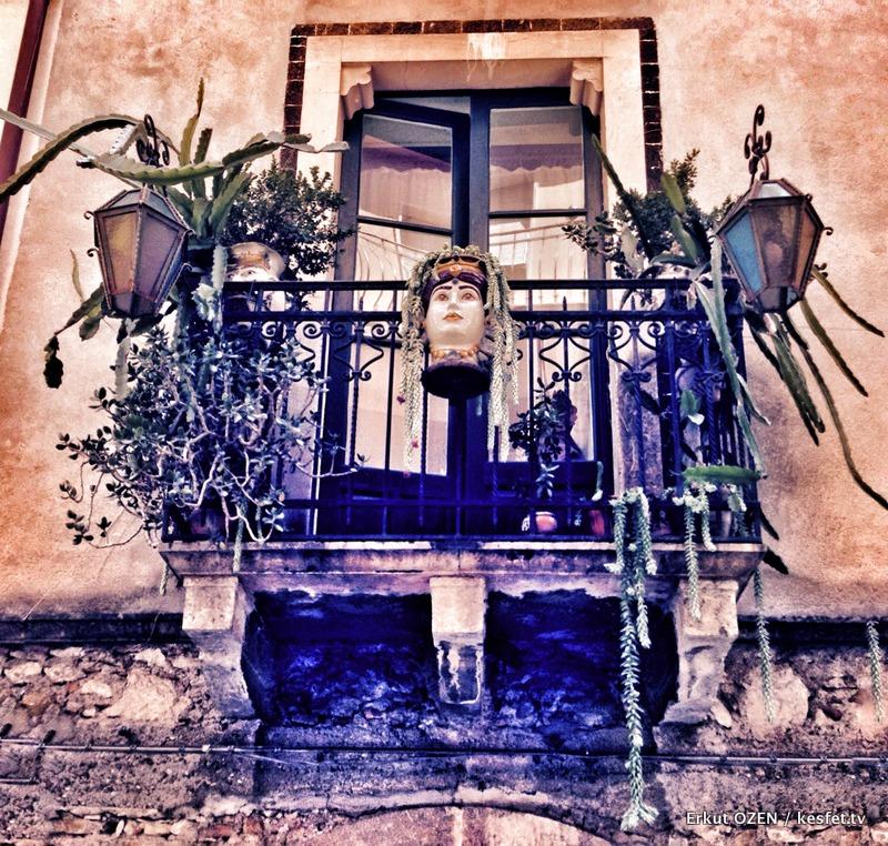 Taormina balkonları