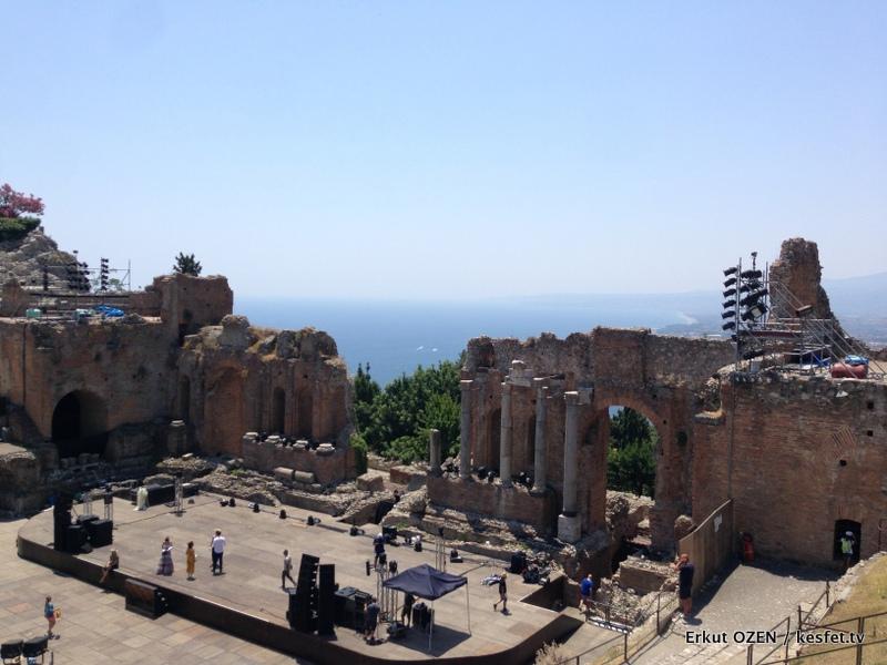 Taormina antik yunan tiyatrosu