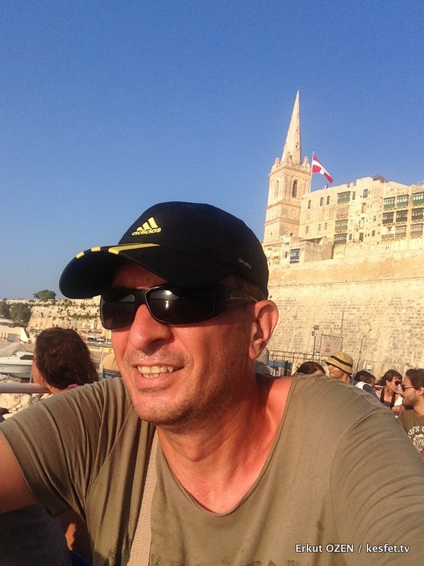 Malta tur rehberi seyahat yazarı Erkut Özen