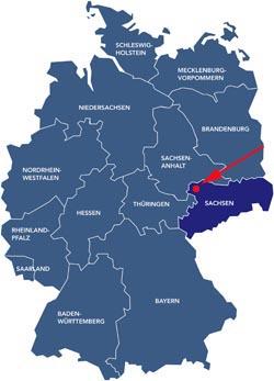 Almanya haritası leipzig
