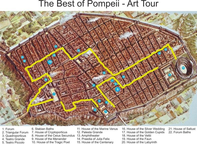 Pompei kenti planı