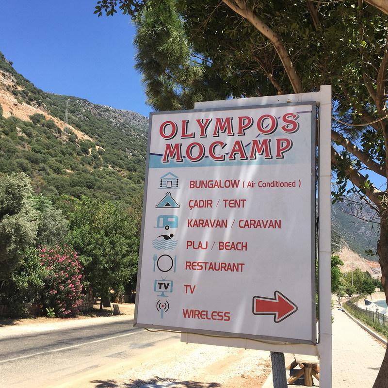 Kaş kamp alanları olympos camping