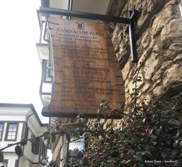 Ohrid Gezi rehberi el yapı kağıt