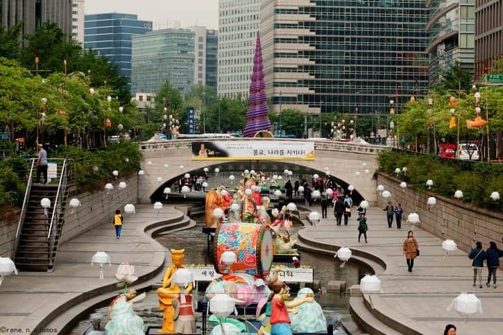 Cheonggyecheon Nehri Seul gezisi