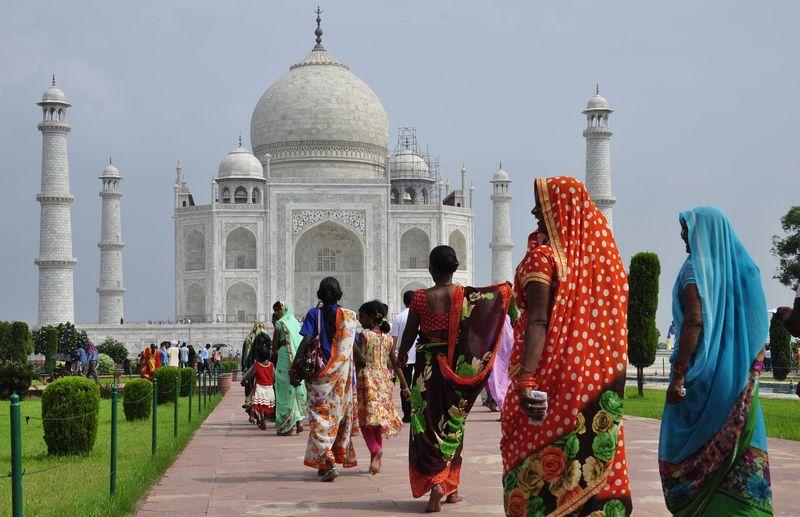 Rengarenk Hindistan Taç Mahal