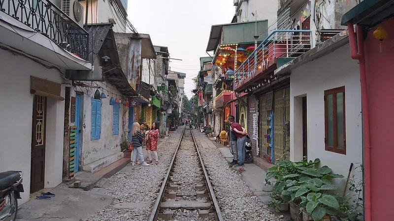Tren geçen sokak